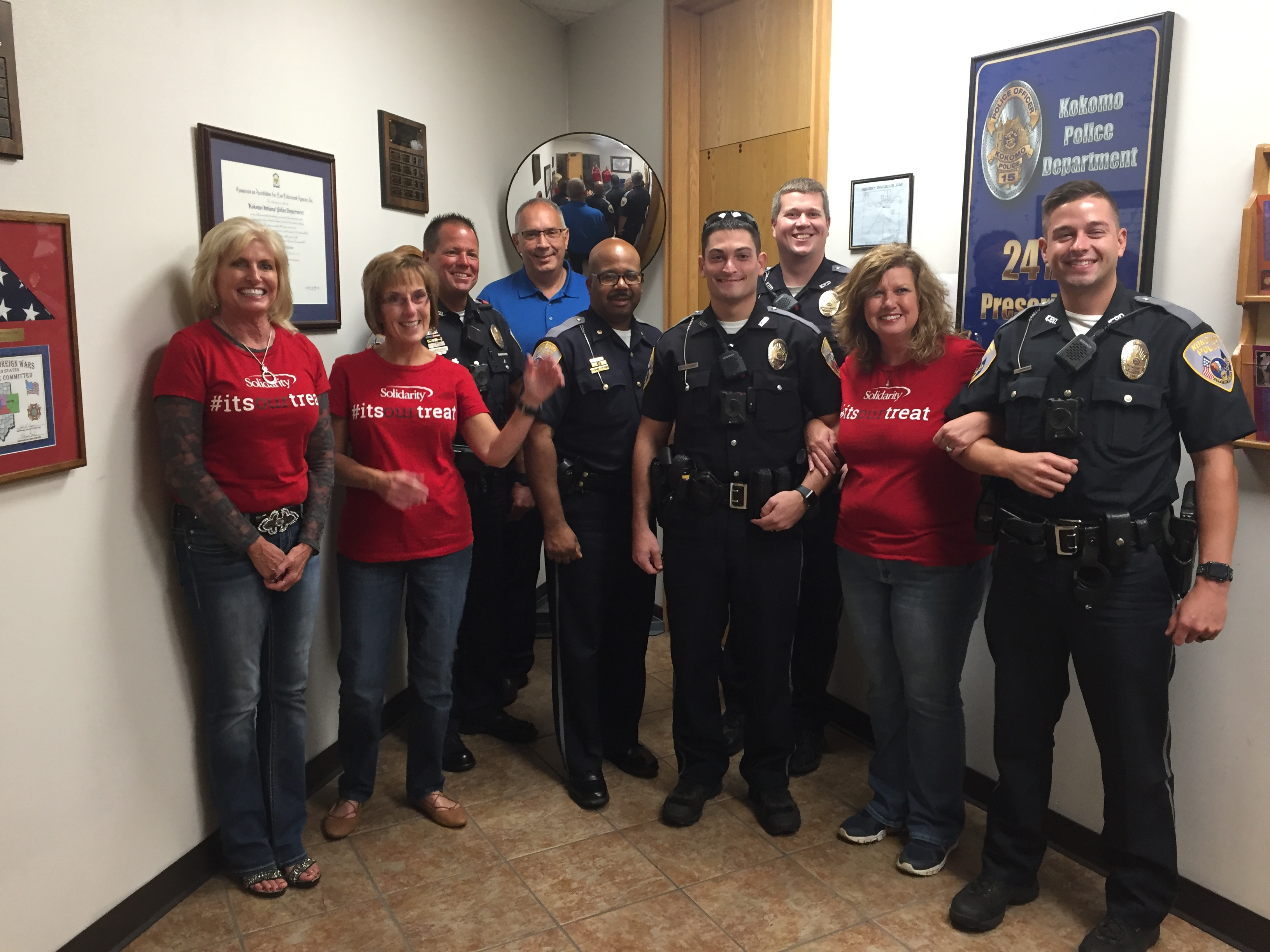 Solidarity Surprise Squad with the Kokomo Police Department