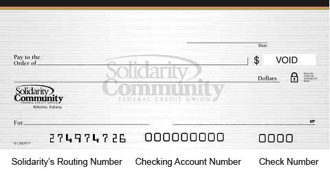 Routing Number Solidarity Community Federal Credit Union